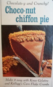A gelatine and cornflake pie.