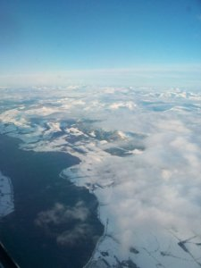 On the plane to Shetland